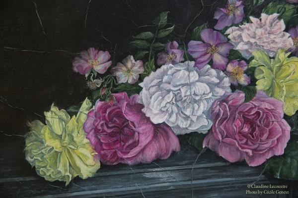 Roses (détail), gouache et aquarelle / watercolor and gouache