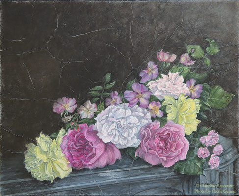 Roses, gouache et aquarelle / watercolor and gouache