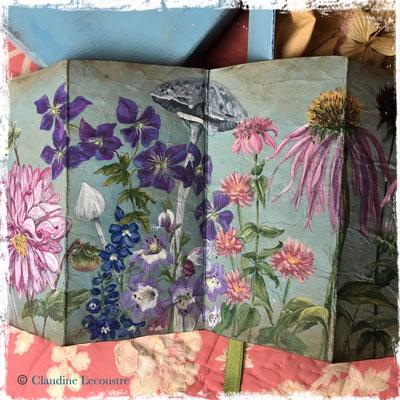 La plate-bande du devant, carnet / sketchbook, aquarelle et gouache / watercolor and gouache