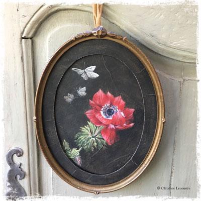 L'anémone rouge, acrylique / acrylic