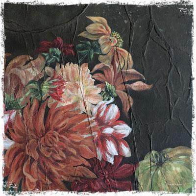 Cueillette d'automne (détail), acrylique /acrylic