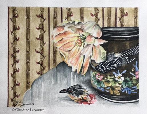 Le cadeau / The gift, aquarelle / watercolor