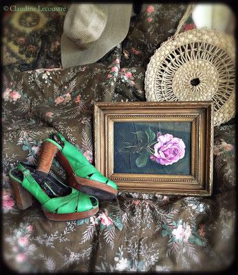 Portrait de rose / Portrait of a rose, gouache