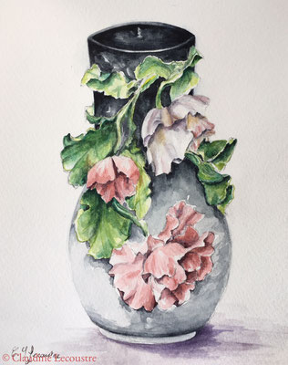 Barbotine 1, aquarelle / watercolor