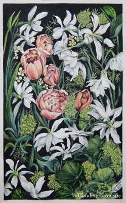 Hommage à William Morris, aquarelle / watercolor