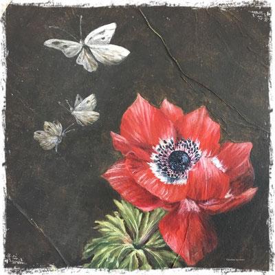 L'anémone rouge (détail), acrylique / acrylic