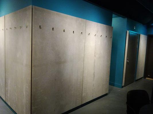 Zementgebundene Spanplatte grau, Wandverkleidung
