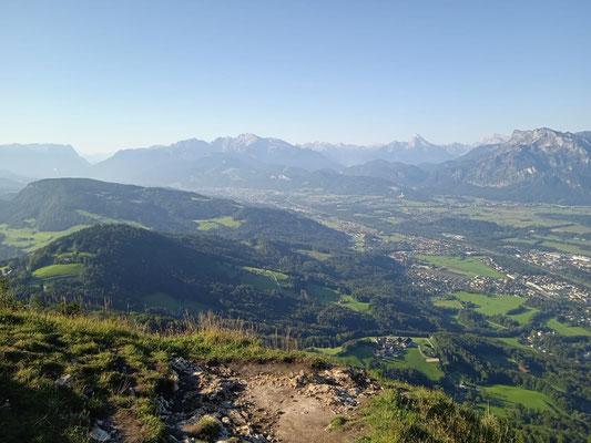 Blick vom Gaisberg nach Hallein, Golling