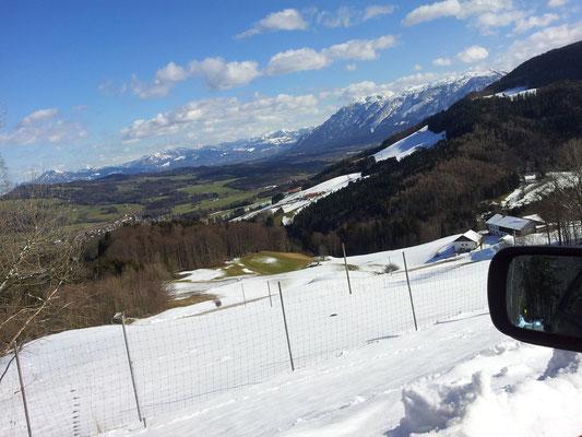 Stoißberg, Blick zum Untersberg