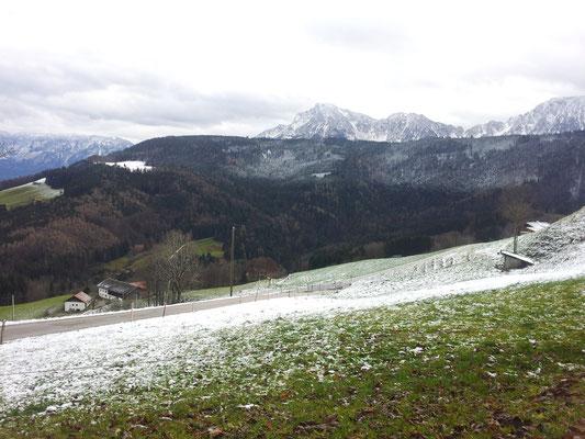 Stoißberg, Blick zum Staufen und Zwiesel