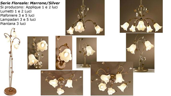 Floreale Marrone/Silver