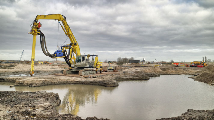 Asbestsanering Waterfront Harderwijk met unieke Beau Dredge Methode van Boskalis | opdrachtgever projectbureau Waterfront