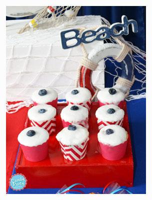 Cupcakes de piña.