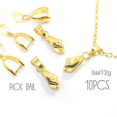 10個 約20×5mm Aカン付きバチカン ゴールド色【bai12g】