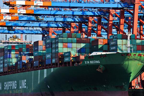 Hamburg, Container Schiff Entladung, Jürgen Müller