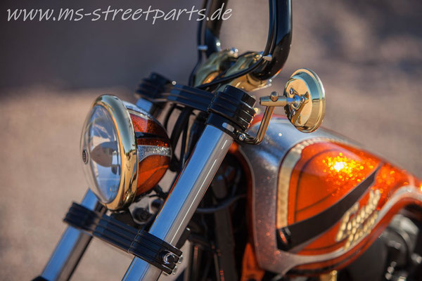 Candy Chop Custom Bike MS StreetParts Wenzenbach Customize Harley Davidson Candy Glitter Marcus Pfeil Painting