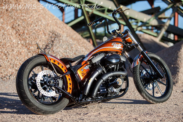 Custom Bike MS StreetParts Wenzenbach Customize Harley Davidson Candy Glitter Marcus Pfeil Painting