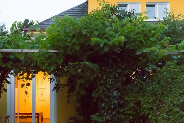 Einer der Hintertüren bei Abenddämmerung