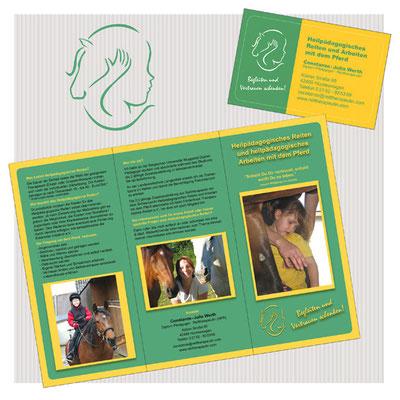 Entwicklung Logo / Gestaltung Flyer + Visitenkarte