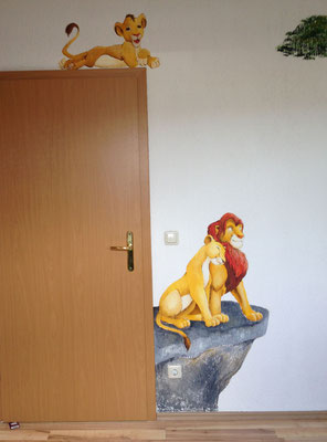 Wandbild Lion King