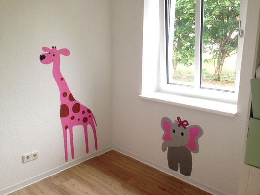 Wandmalerei mit Pastellfarben im Kinderzimmer Teil 2