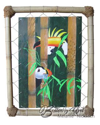 Dschungel in Bambusrahmen