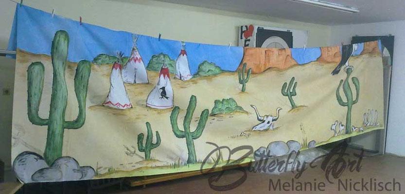 Kulissenmalerei für Dorffest