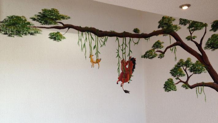 Wandbild von Timon und Pumba