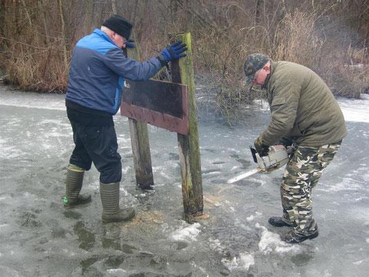 Baumaßnahmen auf dem See