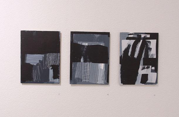 Karin R. Müller – zwischen schwarz und weiss, 2013, Acrylfarbe auf Pavatex