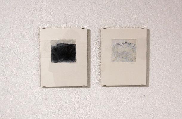 Jill Wäber Berg 1, Berg 2, 2017, Oel, Pastell