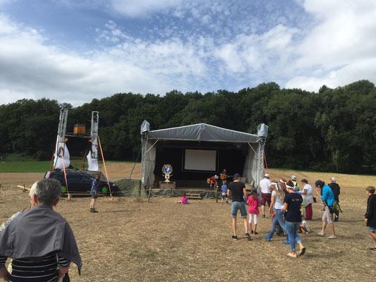Openair Bühne Cevi Lager