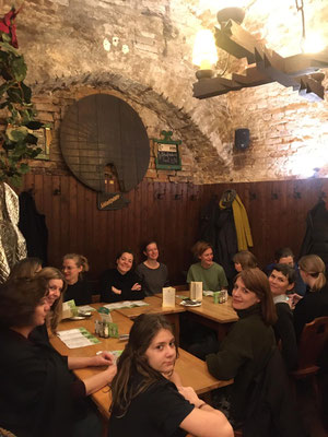 Dinner after the SALOON at the office of the Forum Alpbach team