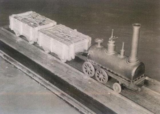 日本で最初の蒸気機関車の模型
