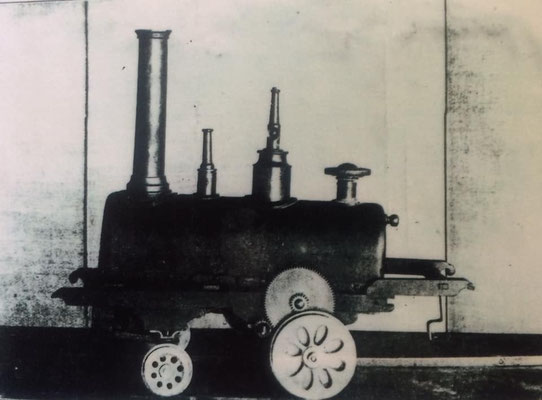 安政2年製造「蒸気車雛形」(鍋島家蔵)