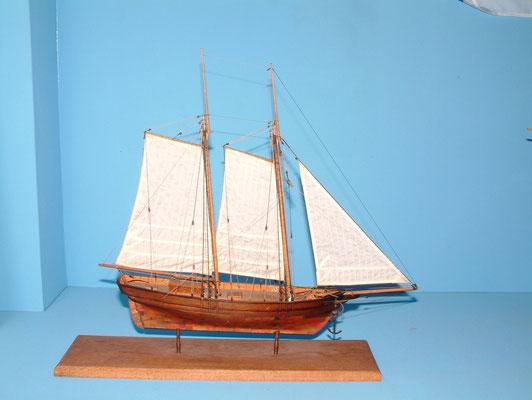 日本初の本格的洋式帆船「ヘダ号」模型