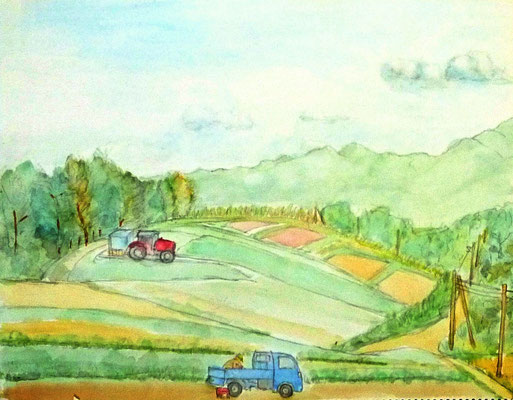 F.Hさん作 小海町の高原畑