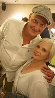 Alex mit Jochen Damm von der Gruppe Klingelköpp