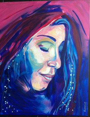 """Woman in thought"" 80 x 100"