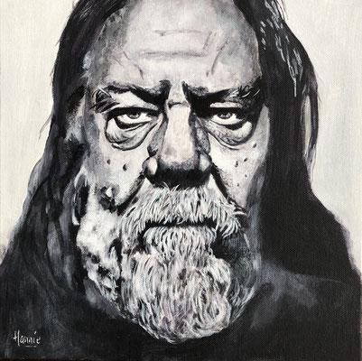 Portret na geschilderd van fotograaf Stefan Vanfleteren.