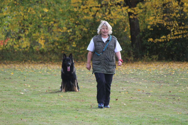Elke mit Gambo vom Reiherwald (IBGH 3)