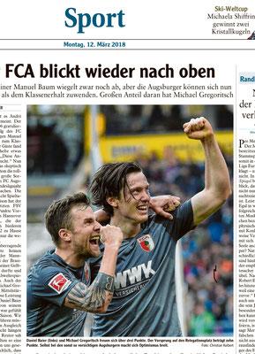 Daniel Baier und Michael Gregoritsch, FC Augsburg