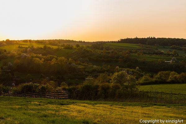 Sonnenuntergang in Kraichtal.