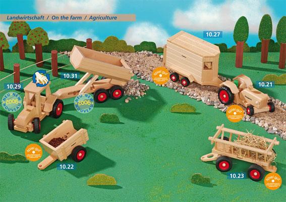 Stabile Fahrzeuge aus massivem Buchenholz