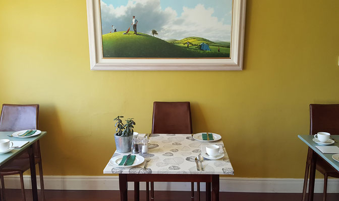 Hillside Lodge - Clifden, Connemara, Galway County, Ireland - breakfast table
