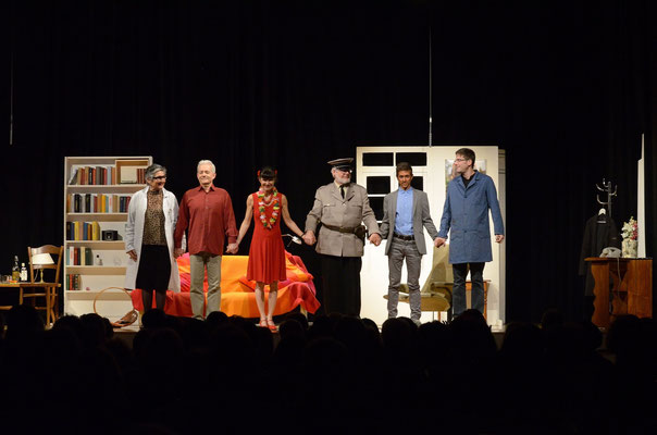 La grande finale: Marie-Claude Reber, Yves Seydoux, Valérie Lobsiger, Jean-François Perrochet, Yari Maltese et Paul Pignat