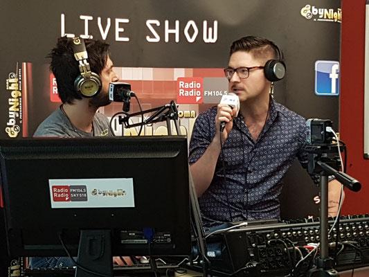 """Intervista con Emilio Giordano per """"By Night Roma"""" Radio Radio 104.5, Roma - 2 Settembre 2016"""