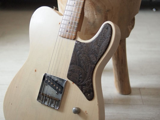 "MJT + Warmoth - Custom ""Prototype Snakehead TL"" - White Blond Relic"