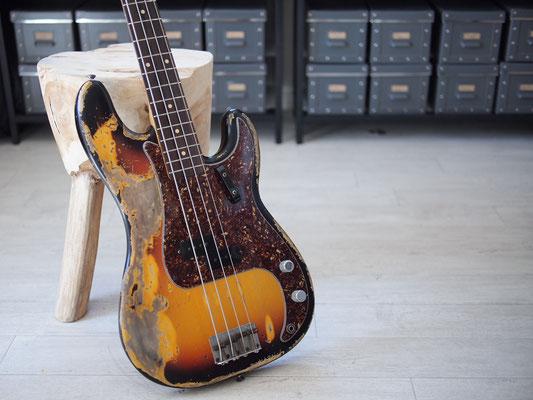 "Fender Custom Shop - 1963 Precision Bass - 3TS Relic - ""Custom Heavy Relic"""