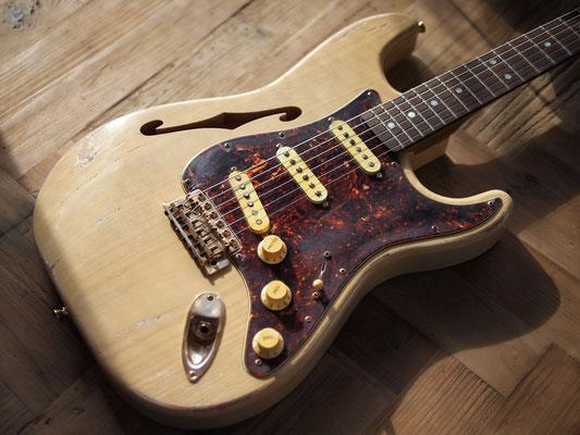 "MJT + Warmoth - Custom ""F-Blond"" Stratocaster"
